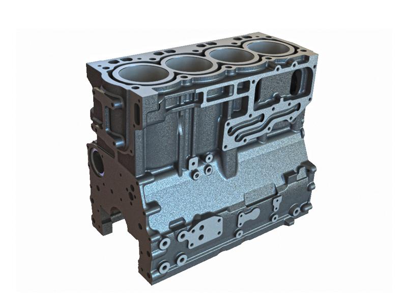 4 silindirli bir motor bloğu ( sıralı tip motor )
