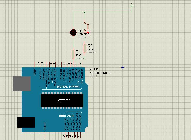 Arduino Proteus çizim görseli